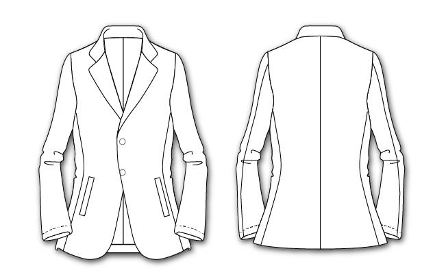 カジュアルなイメージのジャケットハンガーイラスト